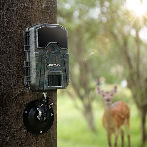 apeman Cámara de Caza 16MP 1080P Cámara de vigilància de la Vida Silvestre, Cámara de Juego de detección Nocturna sin LED de Brillo de 940nm IR, Lapso de Tiempo, Temporizador, Diseño Impermeable IP66