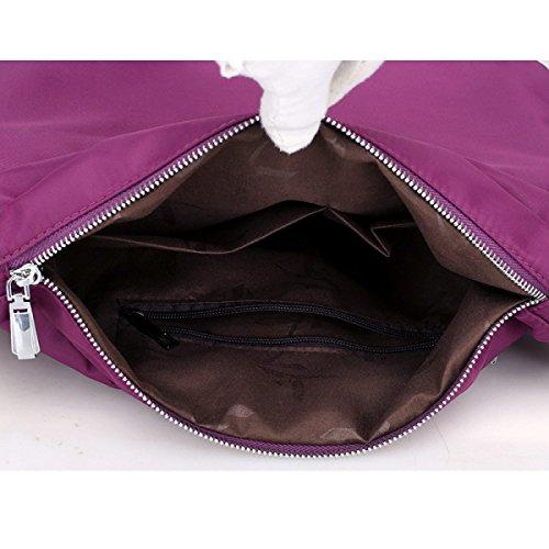 Schulter Kurier Leinwand Modische Handtasche Nylon Tasche Retro Tragbare Tasche Black