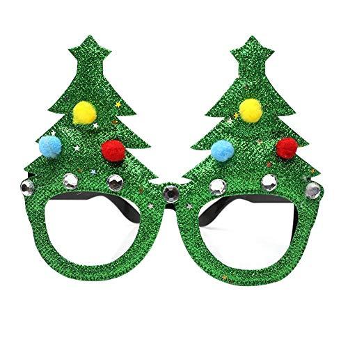 Cokeymove Weihnachten Brille Grün Kostüm Brillen Weihnachtsschmuck Innovative Neuheit Weihnachten Phantasie DIY Gläser Party ()