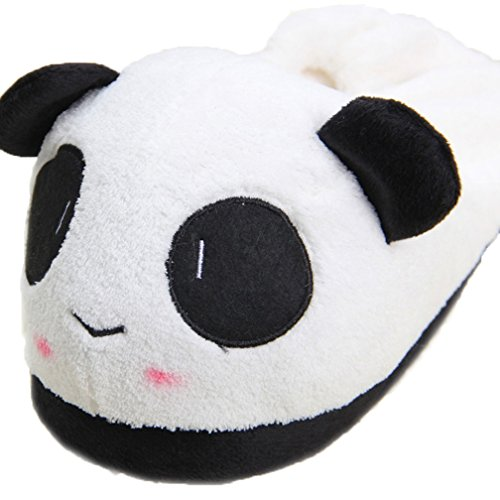 Kostüm Pyjama Party Ideen (Panda Pyjamas Kostüm Schuhe -Karneval Cosplay Tier Schlafanzug Schuhe Onesies Erwachsene Unisex Kigurumi LATH.PIN (M(35-39), Lila Panda Schuhe) (Damen(35-39),)