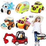 BBLIKE Macchine Bambini Giocattolo,Camion Giocattolo Macchine Bambini Giochi del Veicoli Auto per Bambini 1-3 Anni, Regalo di Natale, Regalo di Compleanno per Bambini 6 Pezzi (Set da 6 Pezzi)