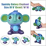 VENMO Jumbo niedliche Galaxy Elephant Squishy duftende Creme super langsam steigende Squeeze Spielzeug Cute Jumbo Duft Squishies Slow Baby Squeeze Soft Spielzeug Stress Relief Spielzeug (AS Show)