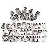 Surepromise 37 Pcs Metal Alphabet Number...