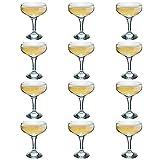 Trinken Rink Vintage Glas Champagner Untertasse