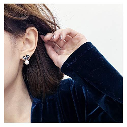 SCLCHQ Ohrringe NeuheitenDamenmode Herz Ohrringe Einfache WassertropfenKristall Ohrstecker Für Frauen Schmuck