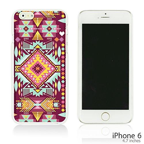 OBiDi - Geometrical Pattern Hardback Case / Housse pour Apple iPhone 6 / 6S (4.7 inch)Smartphone - Funny Tribal Print Purple Pink Aztec Geometric Pattern