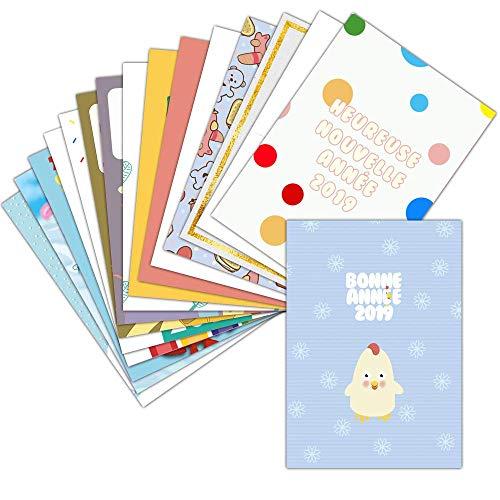 Tarjeta de saludo para niños-Lote de 16tarjetas diferentes-infantil Tarjeta de saludo para...