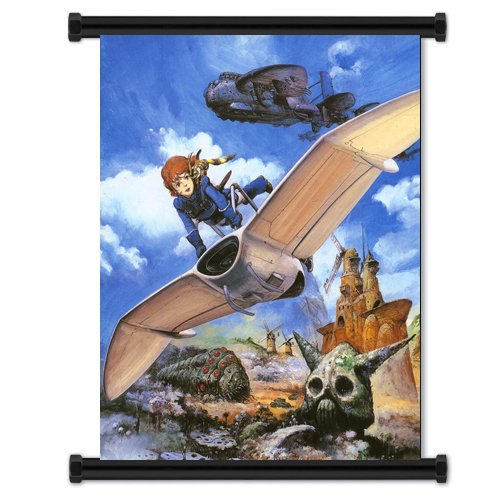 Nausicaa of the Valley of the-Wind Anime Fabric Wall Scroll Poster (40.64 cm x 50.80 cm Zoll)