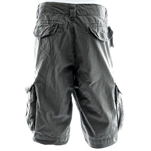 Sizeups Cargo-Shorts für Herren 52010 - 100% Premium Qualität Baumwolle, Große Größen, stark und haltbar Kampfshorts Kohleschwarz