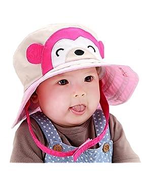 AiSi 2016 il nuovo bebè, motivo: cappello da sole da bambino, con chiusura in Velcro, motivo: scimmia, traspirante...