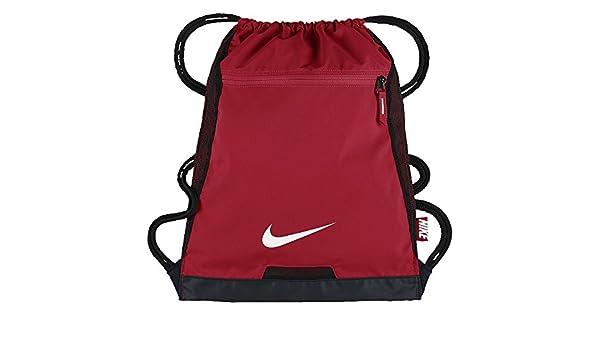 NIKE Alpha Adapt Team Training Drawstring Gymsack Backpack 600 Denier Sport  Bookbag (University Gym Red with Signature White Swoosh)  Amazon.co.uk   Sports   ... 0669da5fb789c