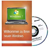 Microsoft Windows 7 Home Premium 32 Bit MAR Version Hologramm DVD und COA Bild