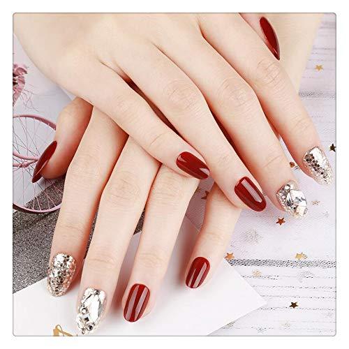 Gefälschte Nägel Modetrend Kirsche Maniküre Patch Nagel Aufkleber Net Rot Schnell Nagel Rechteck Schlank -