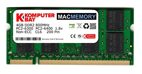 Apple-ddr2-speicher (Komputerbay J34 Macmemory Apple Arbeitsspeicher 4GB (PC2-6300, 800MHz, 200-polig) DDR2-SODIMM für Apple iMac und Macbook Speicher)