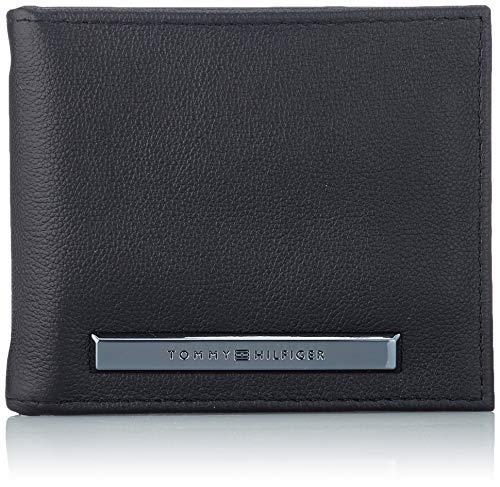 Tommy Hilfiger Corp Plaque Mini Cc Money Clip - Borse a spalla Uomo, Nero (Black), 1x1x1 cm (W x H L)