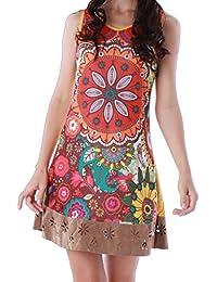 Panasiam Kleid, ganz farbenfrohe Tunika aus 100% echter B.wolle, in S, M, L und XL, kleine Auflage 2016 (Boutiqueware) !