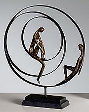 Skulptur Patience bronce. H41/B34cmPoly/Met..Broncefinish/schw.Metall + BaseLieferung 1 Stück ohne Deko !!