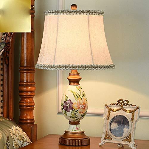 XINXI Home AmericStyle Lamp Bedroom Bedside EuropeSimple d Modern Romtic Creative Warm Retro luci Decorative di Lusso, B, Alta 57 cm (Color : B, Size : High 57cm)