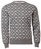 Threadbare Herren Pullover Sweatshirt mit Fahrrad Grafik FMS 035, Anthrazit, Gr. XL