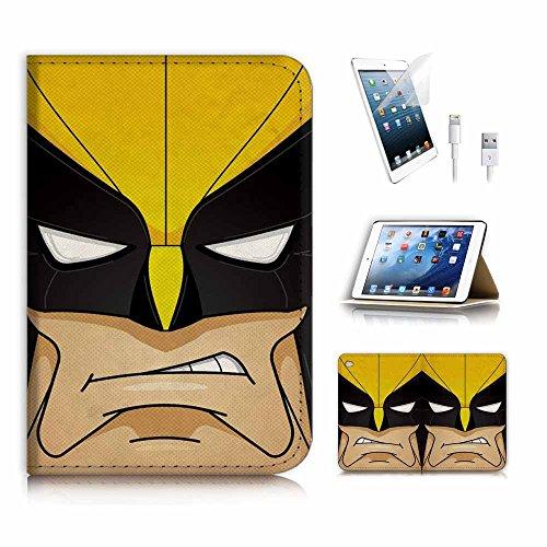 eneration 4) Flip Wallet Schutzhülle & Displayschutzfolie Bundle. A3994Superheld Wolverine ()