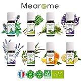 MEAROME Aromaterapia • Set Premium Plenitude 8 Aceites Esenciales...
