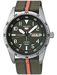Seiko Herren-Armbanduhr XL Automatic Analog Automatik Textil SRP515K1