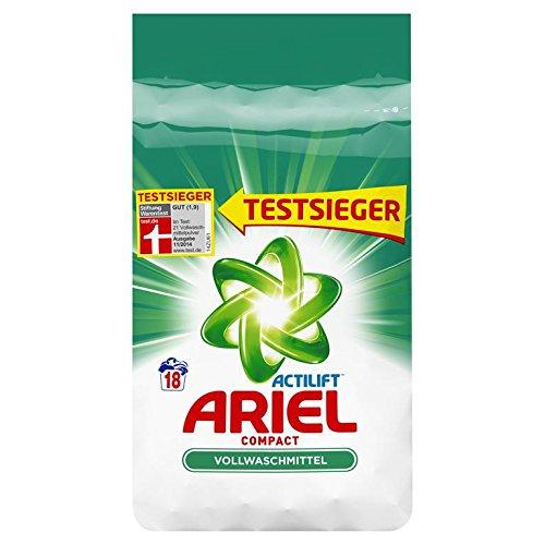 Ariel Compact Vollwaschmittel Pulver, 18 Waschladungen