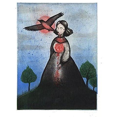 Civil War Widow 2007 grabado de diseño de paisaje color Edición limitada pinturas Silkscreen por Diana Sudyka Original firmado y