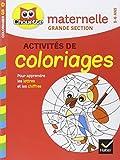 Coloriages pour apprendre les lettres et les chiffres - Maternelle grande section