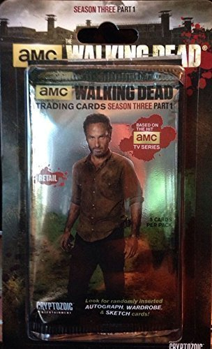 AMC the Walking Dead Trading Cards Season 3 Part 1, Retail 5 Card Pack
