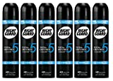 Right Guard Mens Deodorant, Total Defence 5 Cool 48H High-Performance Anti-Perspirant Spray 6 x 250ml Multipack