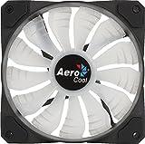 Aerocool P7F12 - Ventilador gaming para PC (12 cm, 12V, 14.5 dBA, 1200 rpm, iluminación RGB, ultra silencioso, anti vibración, rodamiento hidraúlico, aspas desmontables, MTBF 60000 horas), color negro
