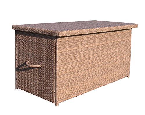 Rattan Kissenbox XXL Auflagenbox Gartenbox Truhe Lounge - Braun