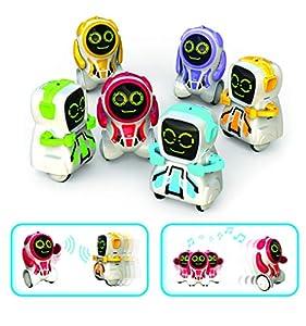 Silverlit-88529-pokibot-Mini Robot interactiva de Bolsillo-Modelo Aleatorio
