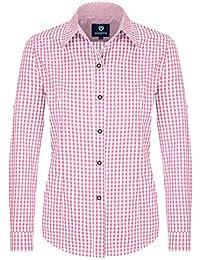 6feda4428753 Almbock Trachtenbluse Damen Langarm   Karierte Bluse in Vielen Farben Aus  100% Baumwolle   Festliche