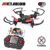 Metakoo Mini Drone con Telecamera WiFi FPV, M2 Quadricottero Pocket Pieghevole Nano RC Droni per principianti con Altitude Hold, 3D Flips, Headless Mode, Funzionamento Facile Sicuro per Bambini Regalo