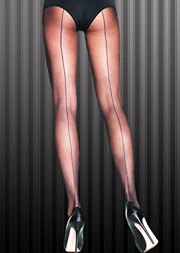 20er Gangster Kostüm Jahre Girl - Flapper Girl 1920er Jahre schwarz Sheer Nahtnylons Strumpfhosen