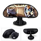 Bystep WisFox Baby Car Mirror Child Car Rear View Mirror for Baby and Mom Rear Facing View Adjustable (medium)