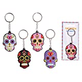 Day Of The Dead Funky Pvc Keyring