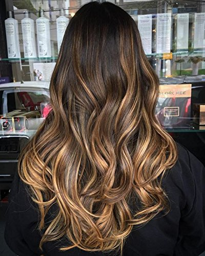 Ugeat 100g/pack Human Hair Weaving Extensions 20 Zoll Haarverlangerung Ombre Blond #2/27/2 Darkest Brown Mit Strawberry Blonde - Strawberry Hair Extensions