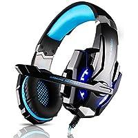 Tsing Auriculares Cascos Gaming de Diadema Cerrados con Micrófono USB Estéreo para PS4 Portátiles (Negro