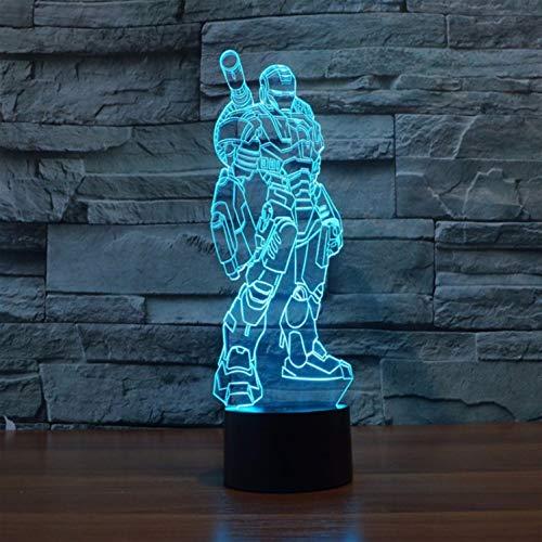 Night Lights Vision Lampe Superhelden 3d Führer Nachtlampe Iron Man Voll Ausgestattet Aktion Bild 7 Farbe Touch Optische Phantom Tischlampe Home