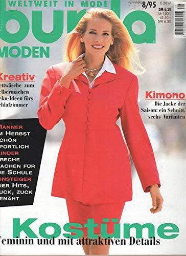 Burda Moden Nr. 08/1995 Kostüme Feminin und mit attraktiven - Attraktive Kostüm