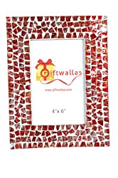 Giftwallas Wooden Photo Frame ( Red, 10X15 cm )