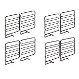 mDesign Juego de 8 separadores metálicos para organizar armarios y estanterías - Prácticos divisores de estantes y repisas - Sistema sencillo para colocar sin tornillos - bronce