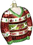 Ugly Christmas Sweater Glass Ornament Standard