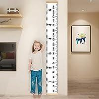 Lienzo bebé tabla de crecimiento, cymax Kids Los Niños reglas de medición medidor de altura colgar en la pared para niños, niñas, guardería habitación decoración de pared–7,9x 79cm