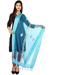 Home Shop Gift Sky Blue Gota Patti Tissue Dupatta