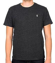 RALPH LAUREN T-Shirt HERREN TEE SHIRT CLASSIC FIT MELANGE RLNM1000 s anthrazit