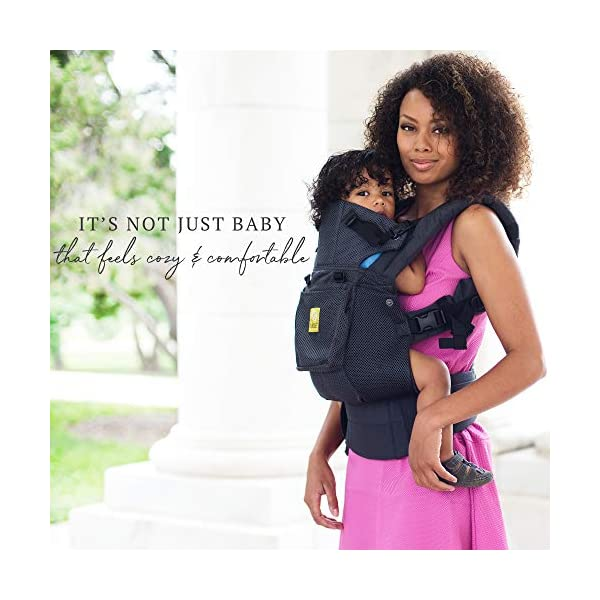 SIX-Position, 360° Ergonomic Baby & Child Carrier by LILLEbaby - The Complete Airflow (All Charcoal) Lillebaby ERGONOMIC: Perfect for newborns. No insert needed. COMFORT: Voted most comfortable baby carrier. SIX (6) POSITIONS: Front inward (fetal, infant, or toddler settings), front outward, hip or back carry. 7 - 45 lbs. 4